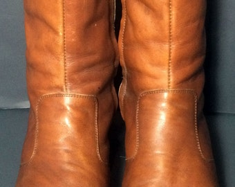 Frye Brown Leather Beatle Boots Chelsea Men's Dress Boots Size 11.5