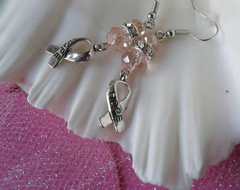 Pink Breast Cancer Awareness Crystal Earrings
