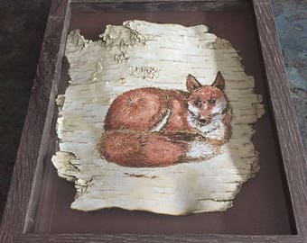 Lying Red Fox - SOLD