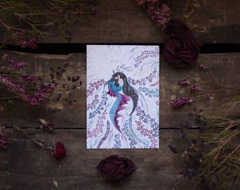 Mermaid - postcard