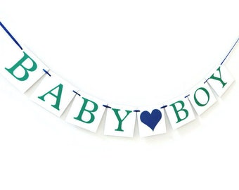Baby Boy Banner, baby shower decorations its a boy banner, baby shower banner, boy baby sign, baby shower sign, baby bunting, party garland