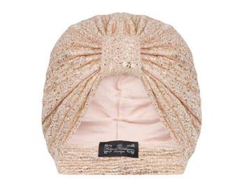 Giselle Golden Jersey Turban