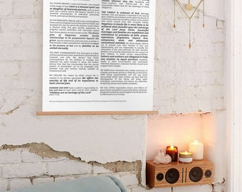 24x36 Large Poster, The Family Proclamation, Family Proclamation, Family Print, Family Proclamation Print