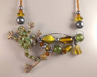 Green Frog necklace