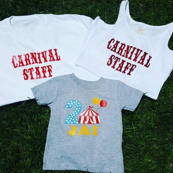 Circus party shirt, circus shirt, Circus family party shirt