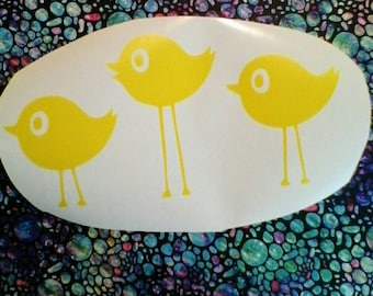 Bird Wall Decals/Bird Decal For Nusery /Three Birds Wall Decal/ Birds Wall Stickers /Kids Room Bird Wall Decals/ Cute Bird Decal/ Love Birds