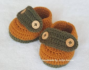 Crochet baby shoes, cute shoes for baby, newborn booties, handmade baby shoes, baby crocheted shoes, gift for baby, handmade booty