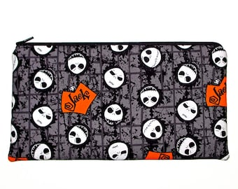 Nightmare Before Christmas JACK Skellington Zipper Pouch Pencil Case
