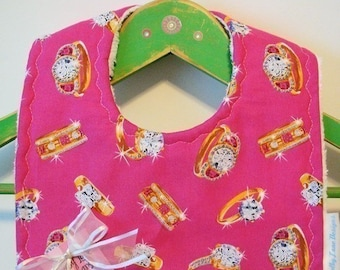 A Girl's Best Friend - Chenille Baby Bib