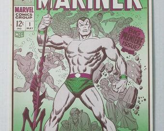 Rare original 1974 Marvel Comics Prince Namor Sub-Mariner 1 comic book cover POSTER: John Buscema art/1970's Marvelmania/Foom/Fantastic Four