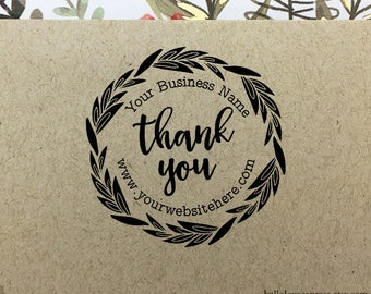 Personalized Thank You Stamp, Custom Etsy Shop Stamp, Business Thank You Stamp, Rubber Stamp, Wood Stamp, Self Inking Stamp, Etsy Thank You