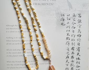 Sea Shell Pendant. Beaded Necklace. Hawaiian Jewelry. For Her