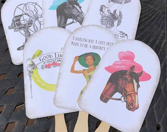 Kentucky Derby Party Hand Fans, set of 30