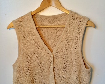 Beige Knit Vest