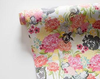 "MICHELLA multi-colored floral print  20"" x 29"" gift wrap sheets 2 pk"