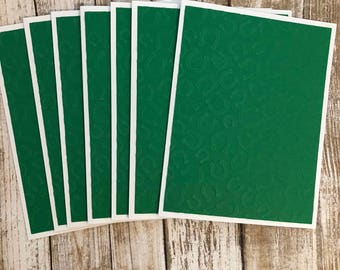 St. Patrick's Day Cards, Embossed Cards, Set Of Cards, Lucky, Green, Thank You Cards, Note Cards, Blank Cards, Greetings Cards, Thank You