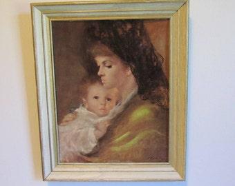 Nursery Art Prints Mother and Child Art Nursery Wall Art