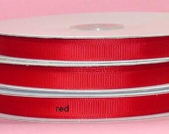 5/8 x 50 yds Grosgrain Ribbon- RED   *SAVE 25%*