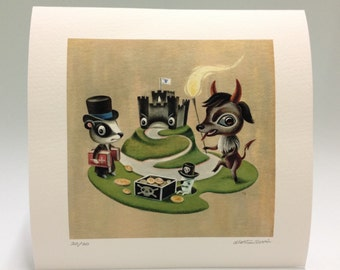 The Devil and Tom Walker LIMITED EDITION gicleé art print by Martin Harris
