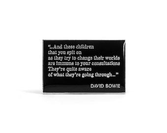 David Bowie Changes Vintage Pin