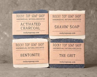 Manly Man Soap Set, Mens Soap Set, Man Soap, Gifts for Him, Unscented Soap, Handmade Soap, Cold Process Soap, Rustic Soap, Vegan Soap