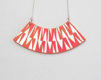 ZIG ZAG Necklace Coral