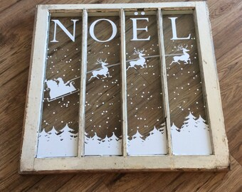 Noel with Santa and his reindeers - Decal only!