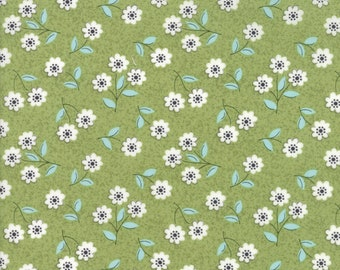 Nest Fabric by Lella Boutiquee for Moda, #5062-13, Leaf, Classic Blossom Green - IN STOCK