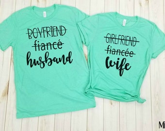 wife and husband shirt, just married, honeymoon shirts, mr. and mrs. shirts, Couples Tshirts, his and hers shirts, wifey shirt, hubby shirt