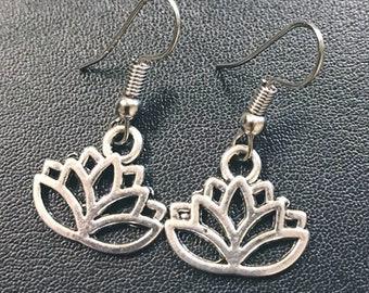 Fortune: Lotus Blossom Silver Earrings