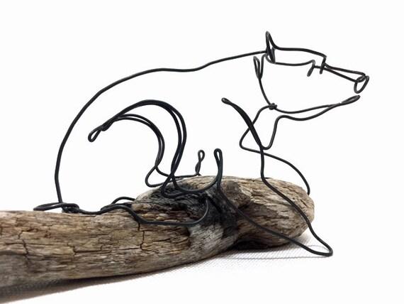 Bär Draht Skulptur Kunst Skulptur die minimale Bär Calder