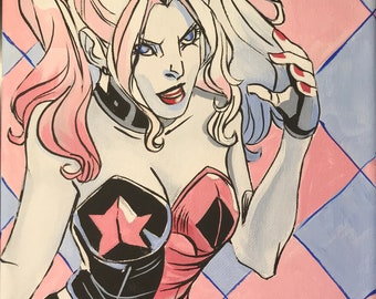 Harley Quinn Original Painting