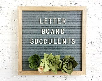 Felt Letter Board Succulents - Letter Board Add-ons for Parties, Showers and Every Day!