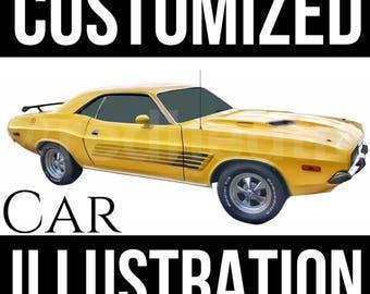 Customized Car Digital Illustration