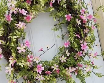 Summer wreath, Spring wreath,front door decor,wall art,Spring front door wreath,front door wreaths,wreaths for front door,vintage,wreaths