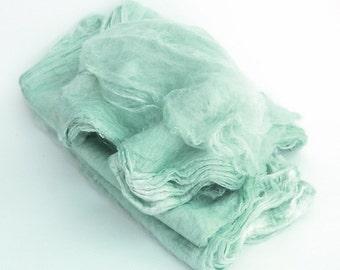 Mawatas Silk Hankies Turquoise Light - 15 grams