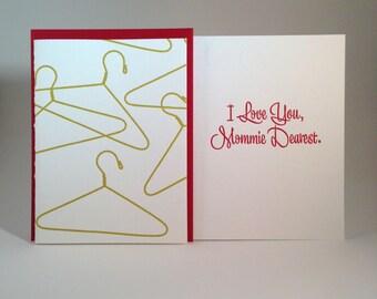 I Love You, Mommie Dearest  letterpressed card