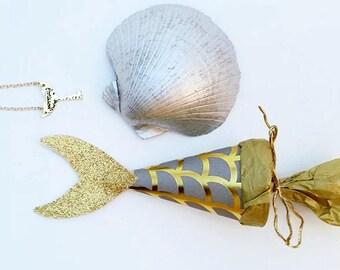 Meerjungfrau Partei begünstigt - Meerjungfrau-Halskette - Meerjungfrau Schwanz - Meerjungfrau - Meerjungfrau Geschenke - Meerjungfrau Geburtstagsparty - Geschenke für sie - Meerjungfrau-Schmuck