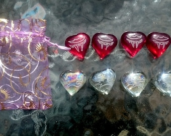 Vampire and werewolves love hearts