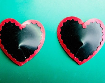 Latex Heart Pasties / Nipple Covers - Halloween