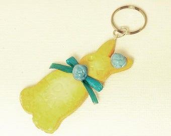 Blue Accessory Bunny Cookie Key Charm