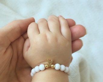 Mommy and me Bracelet, Personalized Mommy and Baby Bracelet, Customizable bracelet, Jade bracelet, Baby bracelet