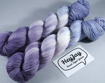 Hand Dyed Sock Yarn Superwash Merino/Nylon - November Rain