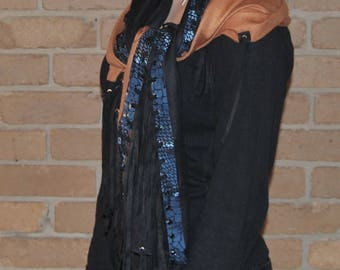 Remake with Popular Demand High Fashion Wrap/Cloak/Shawl/Stole/Scarf/Gift/Silk Cashmere snake printed suede /tassles.