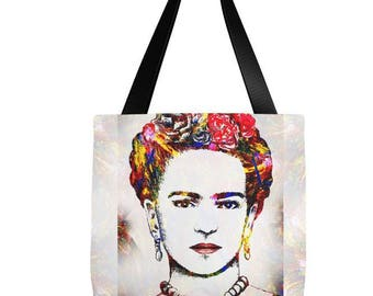 Tote Bag All over print Frida Kahlo 21 Digital art by L.Dumas Artbylucie Totes