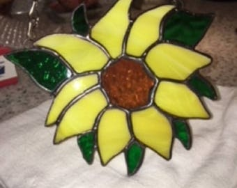 Sunflower Stained Glass suncatcher