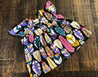 Girls Feather Tunic shirt