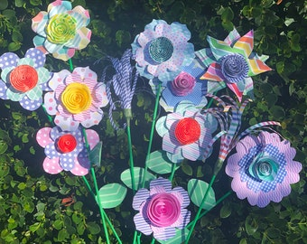 Origami Paper Flowers (bouquet of 6)