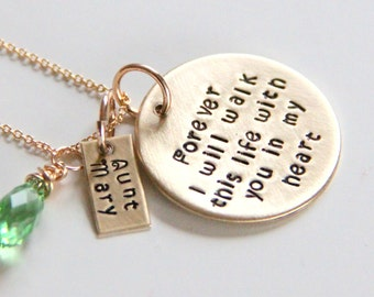 Memorial Necklace - Gold Necklace - Memorial Jewery - Loss of loved one - Remembrance Gift -  Stillborn Keepsake - Miscarriage
