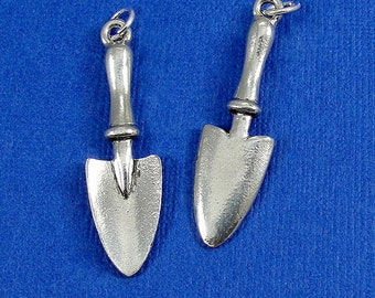 Garden Spade Trowel Charm - Silver Plated Garden Shovel Charm for Necklace or Bracelet